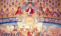 Modul in care poti sa slujesti pe Dumnezeu si evolutia omenirii pictata de Parintele Arsenie Boca in biserica Draganescu